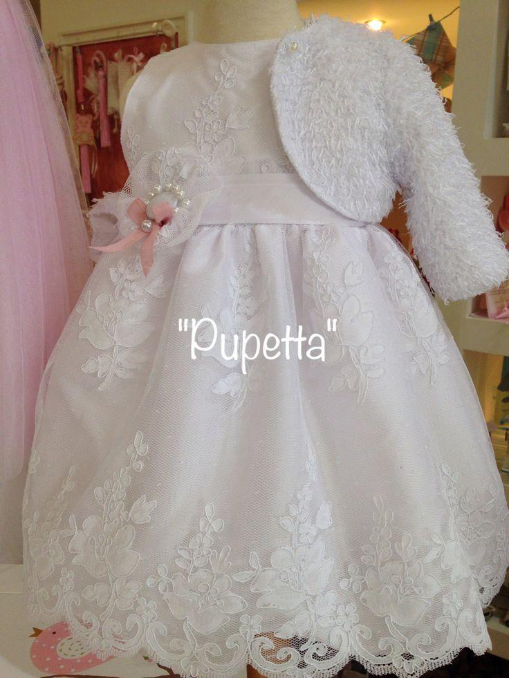 """Βαπτιστικό φόρεμα """"Pupetta"""". www.nikolas-ker.gr"""