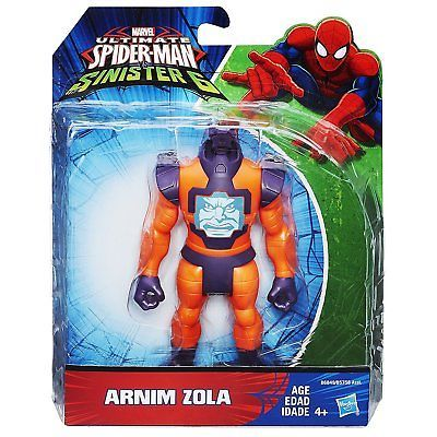 "Marvel Ultimate Spider-Man Vs The Sinister 6 Arnim Zola 5"" Action Figure bnfs"