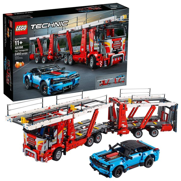 LEGO Technic Car Transporter 42098 Toy Truck and Trailer