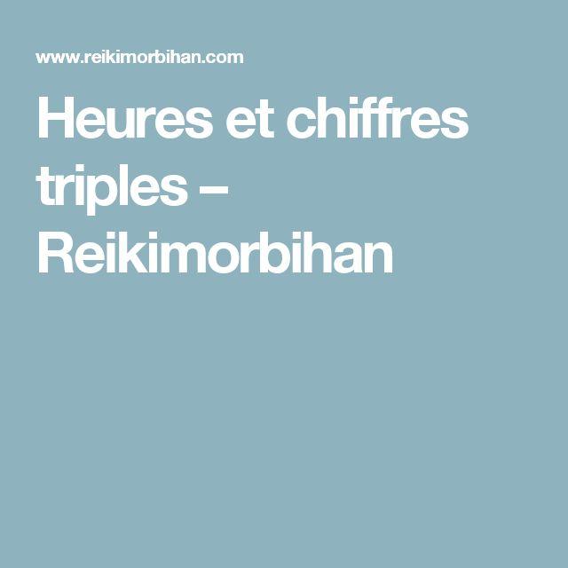 Heures et chiffres triples – Reikimorbihan
