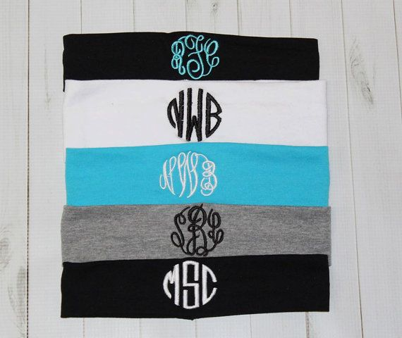 Monogrammed Headband Cotton Stretch Head band 2