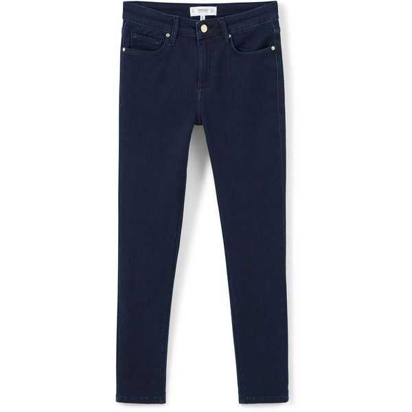 MANGO Skinny Elektra Jeans (90 585 LBP) ❤ liked on Polyvore featuring jeans, blue jeans, skinny fit jeans, zipper skinny jeans, blue skinny jeans and zipper jeans