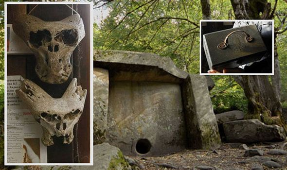 DEMONIC skulls allegedly found near a Nazi briefcase in a remote mountain range have raised the shocking prospect the Third Reich had links with ALIENS.