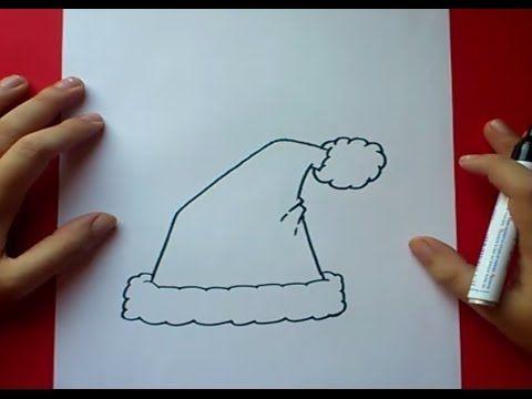 Como dibujar un gorro de papa noel paso a paso 2 | How to draw a santa c...