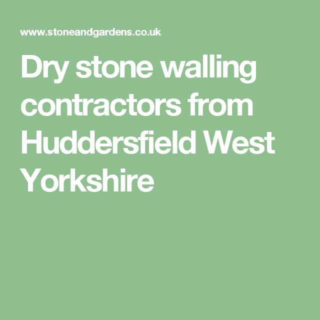 Garden Landscaping In Halifax Huddersfield West: 1000+ Ideas About Dry Stone On Pinterest