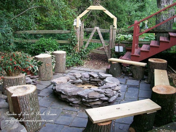 Stop Your Must Have Handbook For Building Diy Fire Pits Stacked Stone Pit Via Our Fairfield Home Garden
