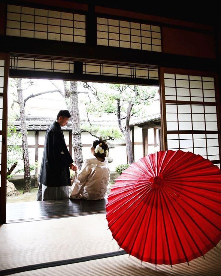 「外にも出てみようか。 #着物 #和装 #bridal #wedding #weddingphoto #weddingphotography #前撮り #結婚 #結婚式 #おかやま #くらしき #岡山 #倉敷 #team_jp_西 #japan #日本」