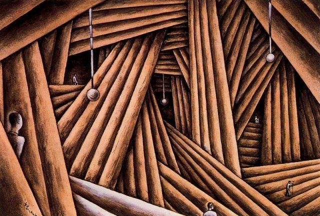 Xul Solar - Cavernas y troncos