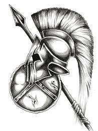 Spartans helmet tattoo