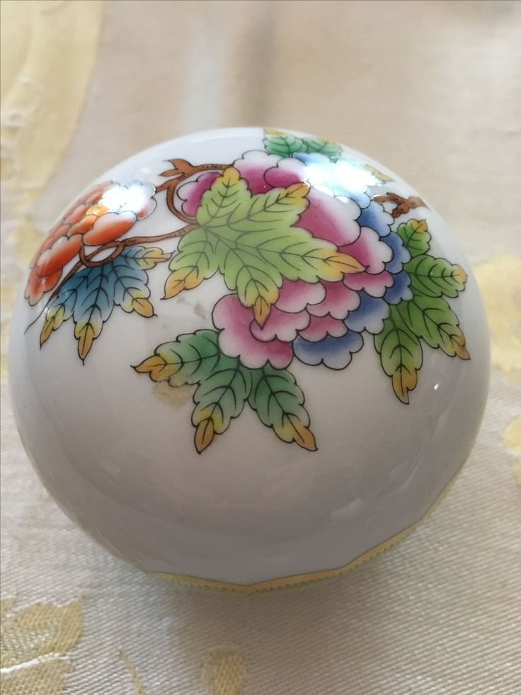 Herend trinket box.  Value Village $2.99 less 30%.  Possible Queen Victoria pattern .