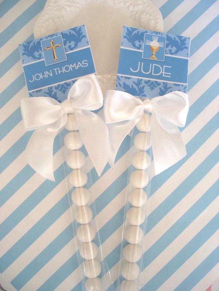 20  1st Holy Communion Favors for boys gum set or gum and mint set. $24.00, via Etsy.