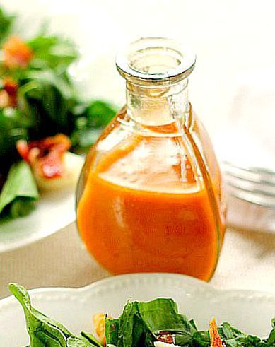 Fresh Spinach Salad with Dressing - Bunny's Warm Oven