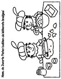 piet pepernoten sinterklaas kleurplaten kleurboek