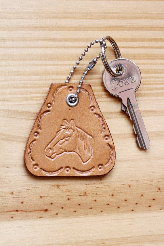 Horse Key Fob, Leather Key Fob, Horse Keychain. Repin To Remember.