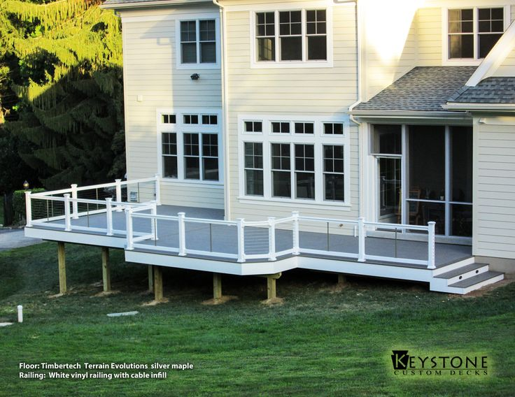 Timbertech Terrain Evolutions Silver Maple Decking And