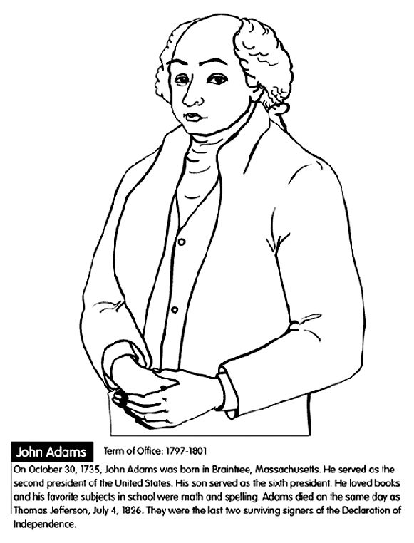 all 44 presidents coloring pages - photo#10