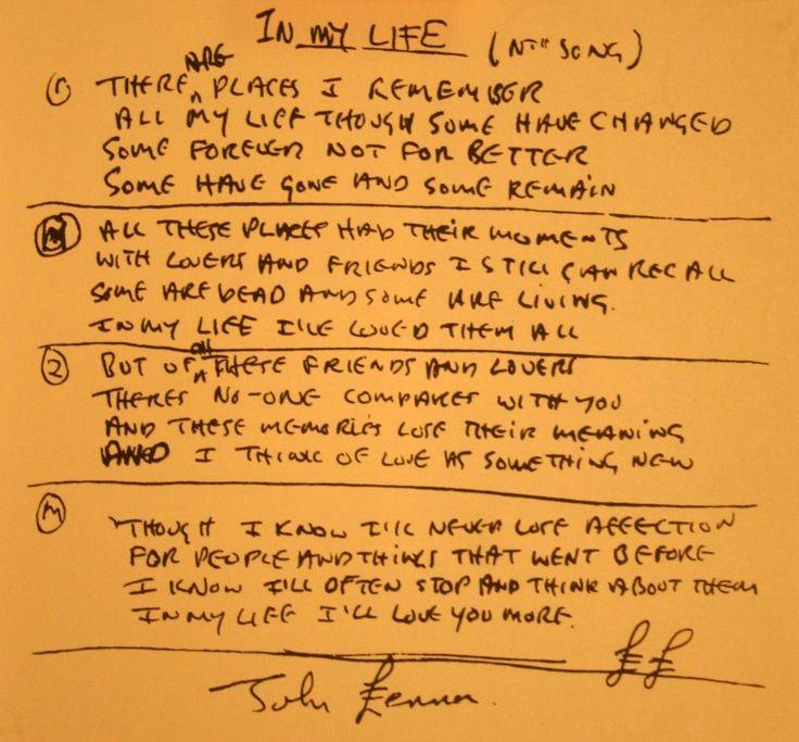 Best 25+ In my life beatles ideas on Pinterest | Beatles songs ...