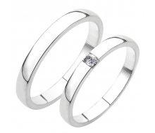 SP-230 Snubní prsteny bílé zlato