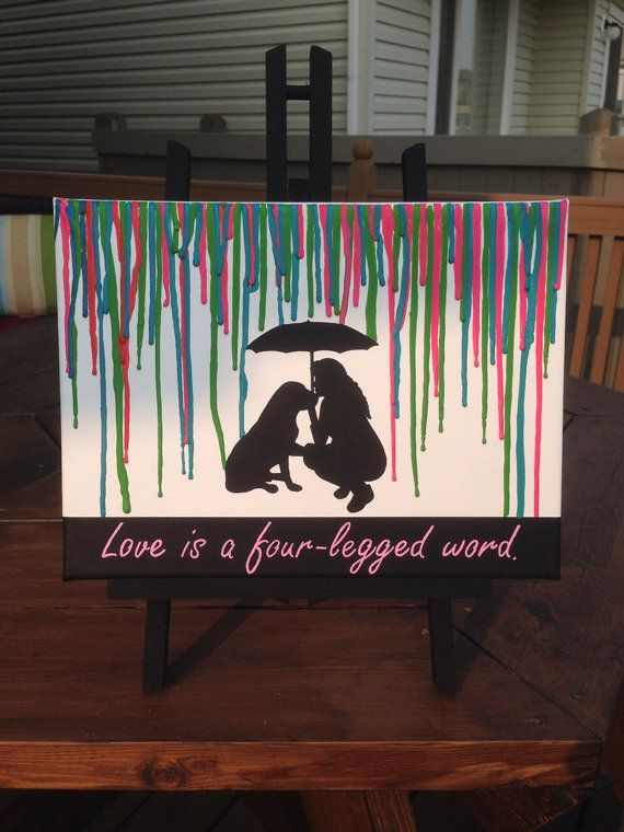 Melted Crayon Art  woman with dog by CrayonJunkie on Etsy