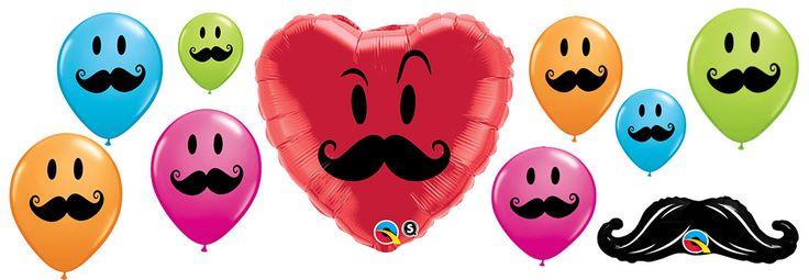 Czy te Wąsy mogą kłamać? Te i więcej balonów z dobrze podkręconym wąsem znajdziesz tutaj http://balomania.eu/kategoria-produktu/lateksowe/balony-z-usmiechem/