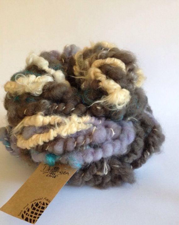 Handspun mixed fibers Art Yarn by deorigenchile on Etsy