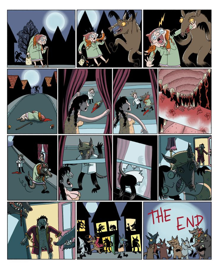 Hattie Flattener Presents... || Comics - I'm Hungry and there are Wolves After Me