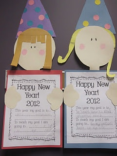 New Year's craftivity: Happy New Year, Years Activities, Years Craftiv, Years Goals, Years Crafts, Goals Sets, Classroom Crafts, Art Projects, New Years