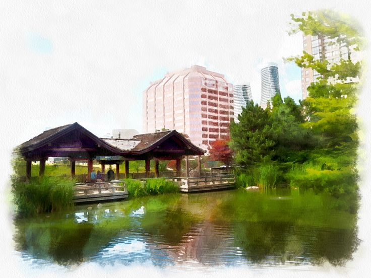 Toronto Japanese Garden Processed with Dynamic Auto Painter www.mediachance.com