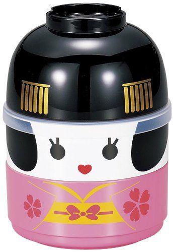 Piccolo Bento Box a forma di geisha giapponese composto da due contenitori e una ciotola.