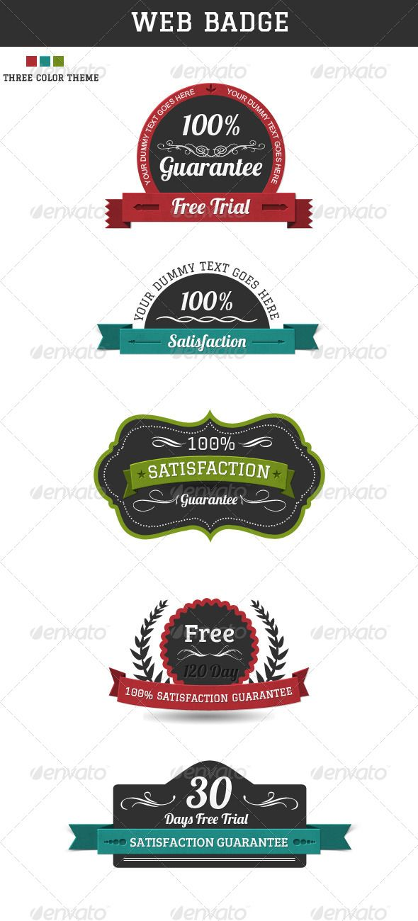 """Web Badges  #GraphicRiver        About Fully Folder & Layered Based Photoshop PSD File easy to UnderStand the Structure Easy To Change Color Theme and Text. 5 Web Badges, with color theme. Fonts google web font """"Bree Serif"""", """"Lobster"""" and """"Graduate""""    .google /webfonts/specimen/Graduate   .google /webfonts/specimen/Bree+Serif   .google /webfonts/specimen/Lobster     Created: 6March13 GraphicsFilesIncluded: PhotoshopPSD HighResolution: No Layered: Yes MinimumAdobeCSVersion: CS…"""