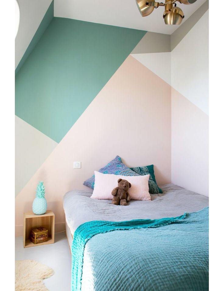 Creatief met kleurvlakken op je muur