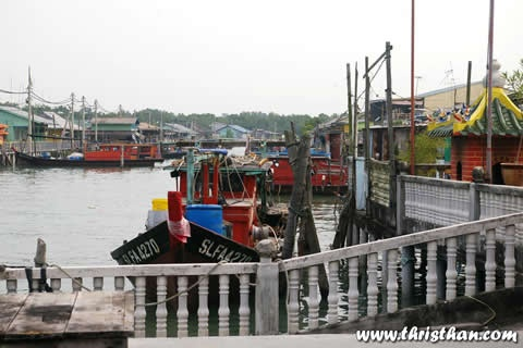Jetty at Pulau Ketam near Port Klang