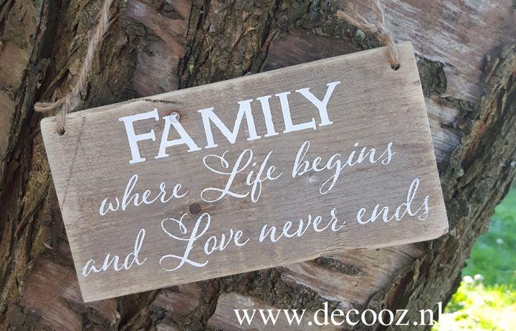 tekstplank Family where life begins