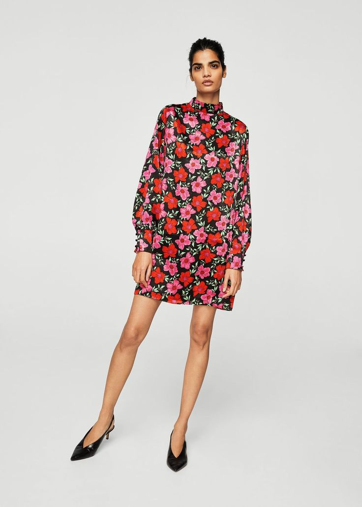 Sukienka z kwiatowym wzorem | MANGO