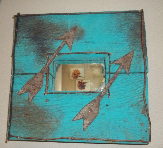 Mirror Rustic Mirror Handmade Mirror by SuzyQsVintageShop on Etsy