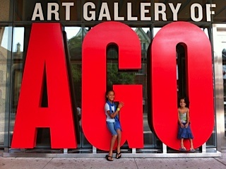 Me and Sana at the Art Gallery of Ontario