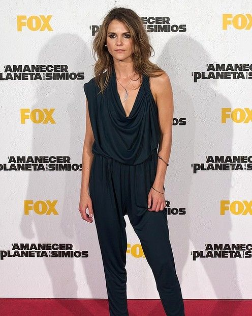 "Actress Keri Russell attends the ""Dawn of the Planet of the Apes"" (Amanecer en el Planeta de los Simios) premiere at the Capitol cinema on J..."