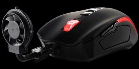 Tt eSPORTS BLACK Element Cyclone - геймърска мишка с подвижен вентилатор