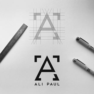 Follow us  @logoinspirations Ali Paul by @made.by.james - ➡️ logocore.com/learnlogodesign -  LEARN LOGO DESIGN  @learnlogodesign @learnlogodesign