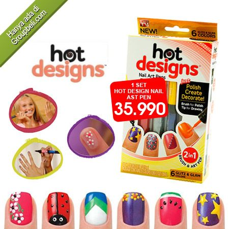 Hot Design Nail Art Pen dapat mempercantik dan menghias kuku dengan mudah hanya Rp 35.990 http://groupbeli.com/view.php?id=711