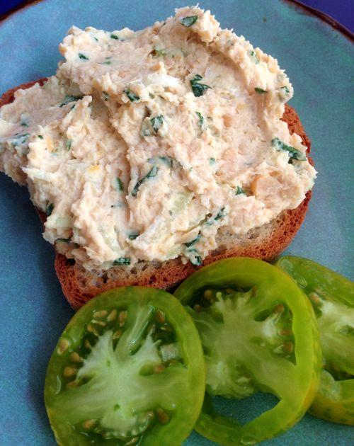 Vegan Lemon Basil Chickpea Salad Sandwich