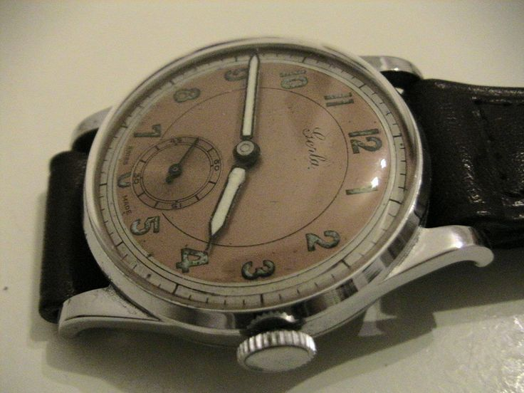 old stock never worn vintage swiss made circa 1939 mens gent watch with tag 15 jewels original dial hands and band serviced ready to wear by Bohemianwatchsource on Etsy
