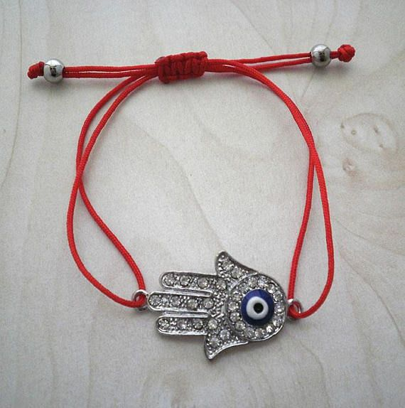 Hamsa hand bracelet,Kabbalah bracelet,protection bracelet,Red string of fate bracelet,evil eye bracelet,red string bracelet,lucky amulet