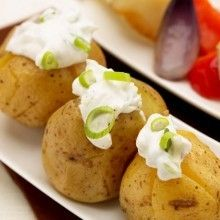 Aardappelen met ricotta en gegrilde groenten