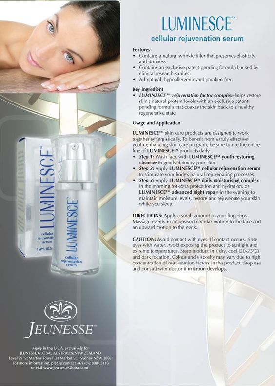 How to use the Luminesce Cellular Rejuvenation Serum.   The only one can do repair and Rejuvenation Serum.: