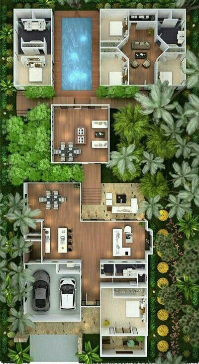 Model Denah Rumah Sederhana Taman Depan Denah Rumah Pinterest