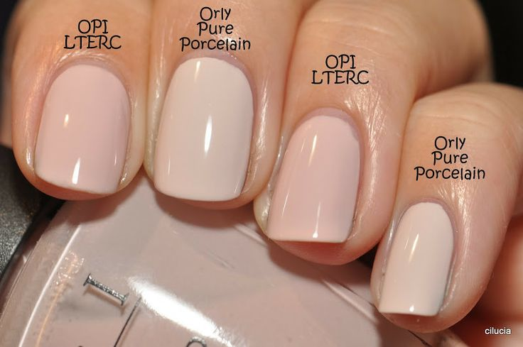 Comparison: Orly Pure Porcelain and OPI Let Them Eat Rice ...