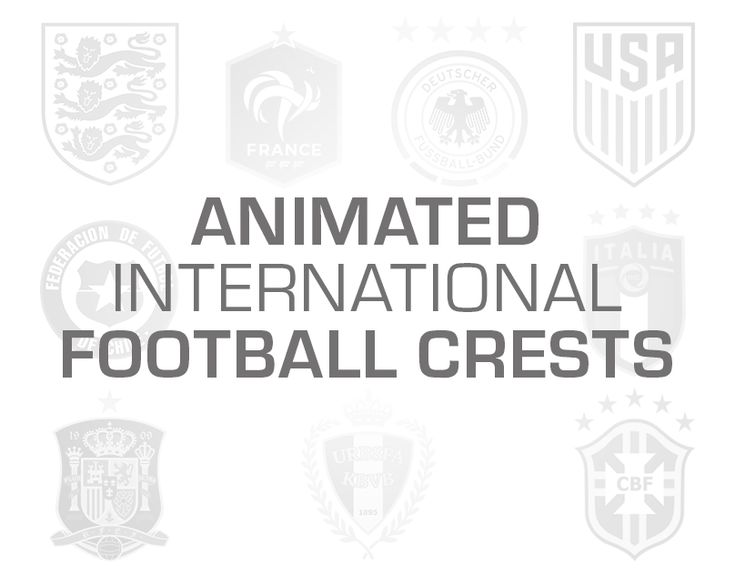 """Check out this @Behance project: """"Animated International Football Crests"""" https://www.behance.net/gallery/60331089/Animated-International-Football-Crests"""