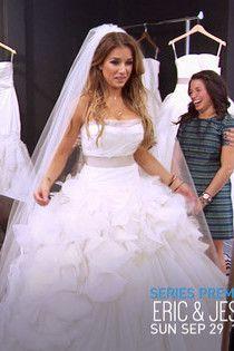 Jessie James Decker wearing Vera Wang Tw-018 Wedding Dress