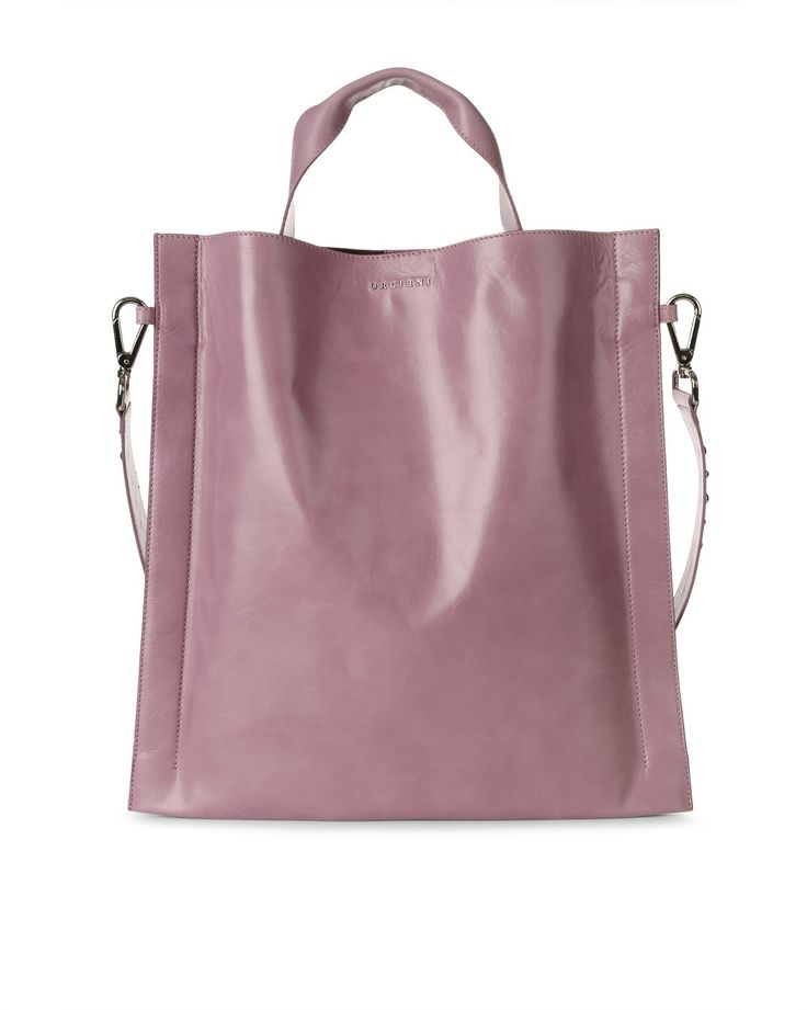 larghezza: 41 cm altezza: 41,5 cm <br> shopper in pelle lucida <br> tracolla di servizio con borchie applicate <br> tasca interna applicata <br> chiusura con calamita <br> finitura nichel lucido <br> made in italy